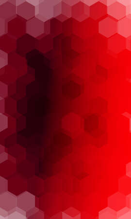 hexagonal pattern. illusion. red color gradient background. vector. for design, banner, presentation