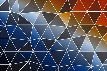 beautiful polygonal mosaic on a color gradient. vector illustration. for design of printed materials, websites, presentations, business ideas
