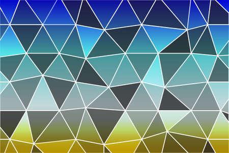 Beautiful polygonal mosaic on colored gradient. vector illustration.