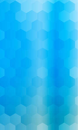 hexagons on a blue color banner. geometric pattern with gradient. vector. for design