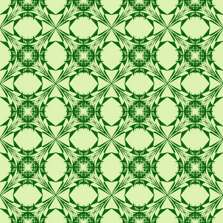 abstract pattern of geometric shapes, lines, waves. Seamless vector illustration. green color. for interior design, printing, textile industry Vettoriali