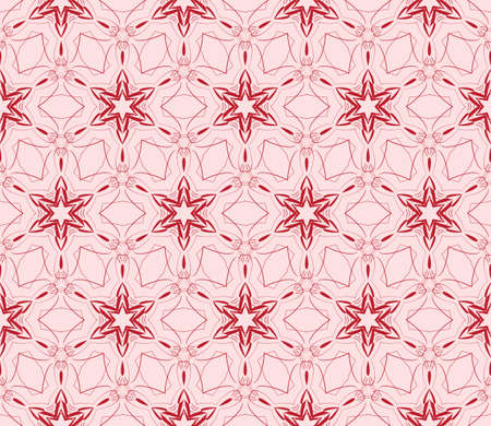 gentle seamless pattern of abstract flowers for greeting cards. vector illustration. pink color. for design, printing greeting cards, interior decoration, Wallpaper Illustration