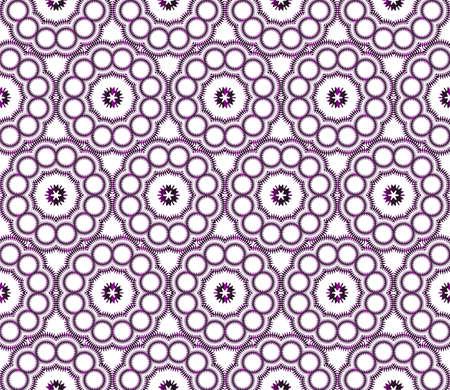 geometric pattern of circles and ovals. vector illustration. purple gradient. Ilustração