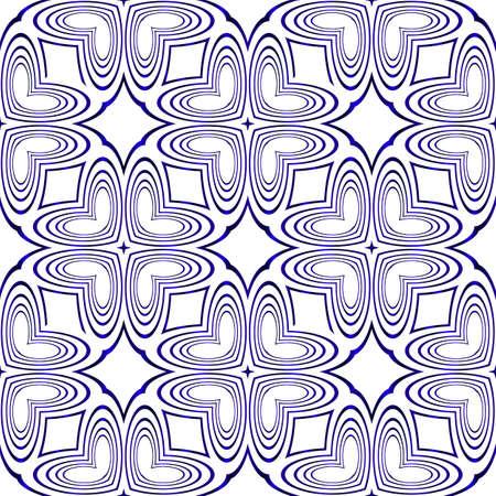 seamless vector pattern of geometric shapes. blue gradient. vector illustration Stock Illustratie