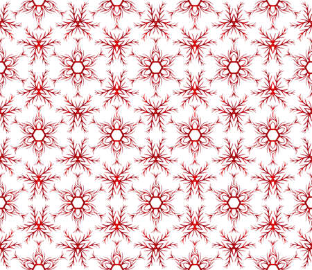 Abstract seamless background of snowflakes. vector illustration. red gradient.