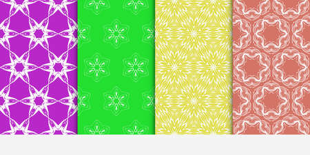 set of original floral patterns. geometrical ornament. vector illustration for design invitation, backgrounds, wallpapers Illustration