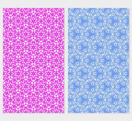 set of 2 floral seamless pattern. abstract geometry shape. vector illustration. modern ornament. for design wedding invitation, background, wallpaper, greeting card