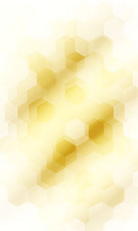 Fantasy hexagons on a gold color background.