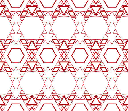 Beautiful geometric pattern of hexagons. vector illustration. red gradient.