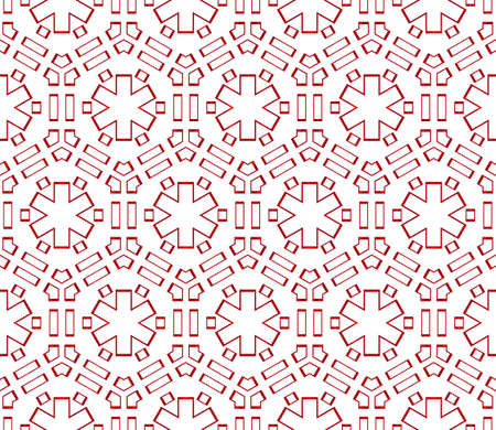 Hexagons beautiful geometric pattern vector illustration, red gradient. Ilustrace