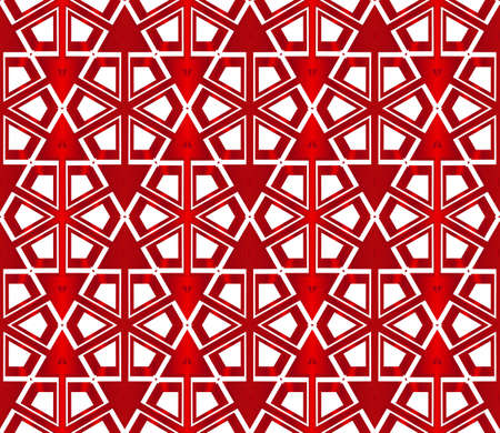 beautiful geometric pattern of hexagons. vector illustration. red gradient.