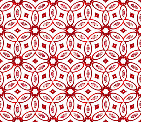 Red gradient style floral pattern