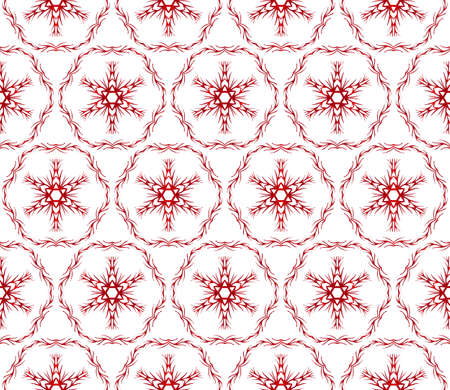 beautiful Christmas pattern with snowflakes. vector illustration. red gradient. Illustration