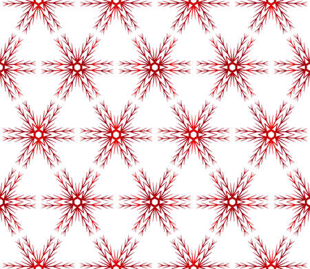 Christmas snowflakes beautiful Christmas pattern vector illustration red gradient.