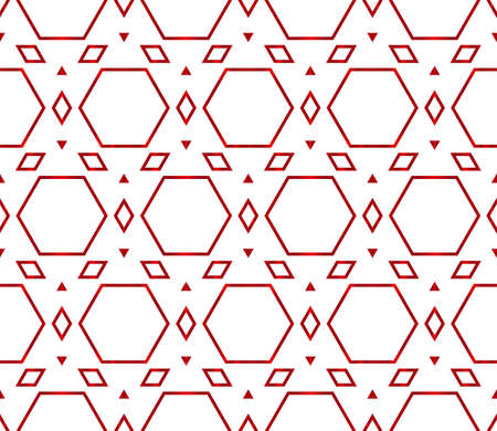 Beautiful geometric pattern of hexagons. Vector illustration red gradient. Illustration