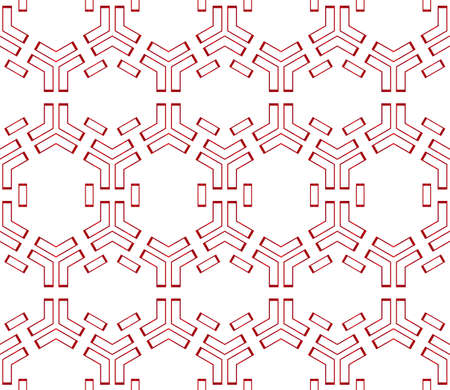 hexagons. beautiful geometric pattern. vector illustration. red gradient.