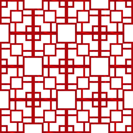 Geometric pattern of square. vector illustration. red gradient.