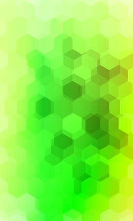 hexagonal patterns. 3d illusion. green, yellow gradient banner. vector. for design, presentation, business
