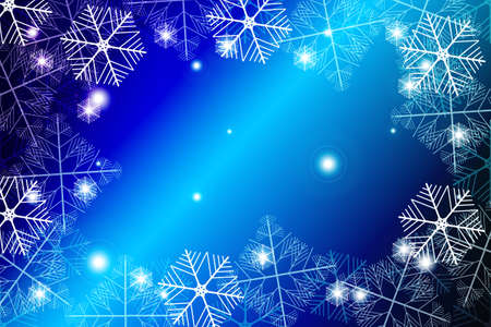 blue gradient christmas background with White snowflakes, Vector illustration. Mery Christmas and Hapy New year theme. For greeting card, presentation, design