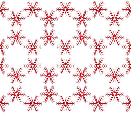 Beautiful Christmas pattern with snowflakes. Vector illustration, red gradient.