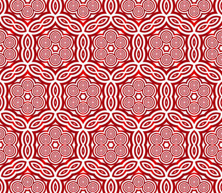 Seamless vector pattern of ovals and circles. red gradient. vector illustration Ilustração