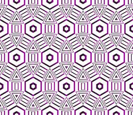 Seamless vector pattern of hexagons. purple gradient. vector illustration