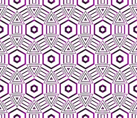 Seamless vector pattern of hexagons. purple gradient. vector illustration