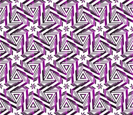 Geometric pattern of star. vector illustration. purple gradient.