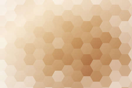 bronze color hexagon background. vector. geometric pattern. ideas for your business presentations, printing, design.