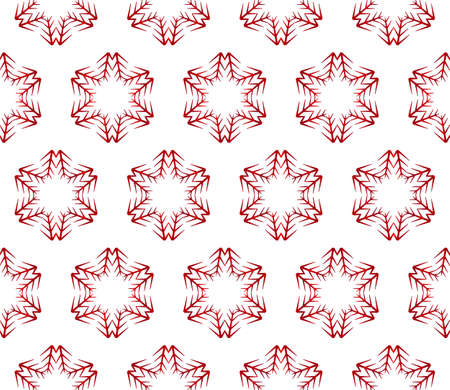 beautiful Christmas pattern with snowflakes. vector illustration. red gradient. Çizim