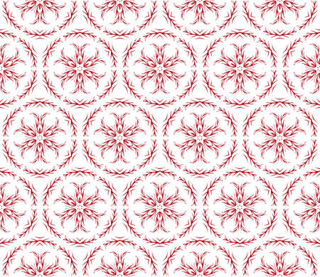 beautiful Christmas pattern with snowflakes. vector illustration. red gradient. Ilustrace