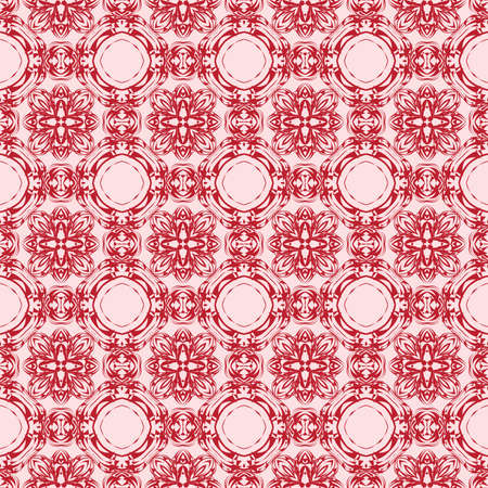 Gentle seamless pattern of abstract flowers for greeting cards. vector illustration. pink color. for design, printing greeting cards, interior decoration, Wallpaper