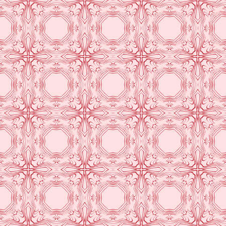 abstract geometric pattern of the various shapes and lines. vector illustration. seamless texture. pink color. for the design, printing, interior decoration, Wallpaper