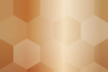fantasy hexagons on a brown color background. vector. ideas for your business, printing, design presentations.