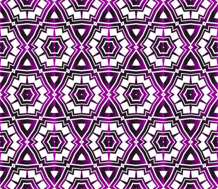 Hexagons beautiful geometric pattern. Vector illustration in purple gradient. 向量圖像