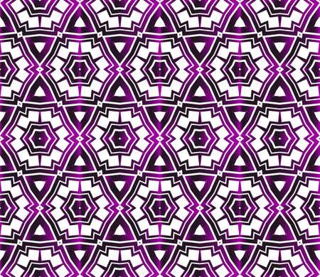 Hexagons beautiful geometric pattern. Vector illustration in purple gradient. Ilustração