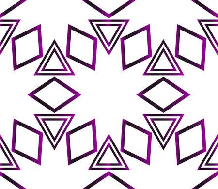 Geometric pattern of triangles. Vector illustration. Purple gradient.