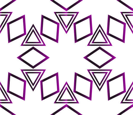 Geometric pattern of triangles. Vector illustration. Purple gradient.