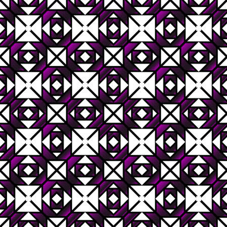seamless vector pattern of geometric shapes. purple gradient. vector illustration