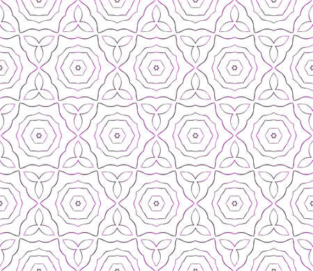 Geometrical pattern of various shapes. Vector illustration. Purple gradient.