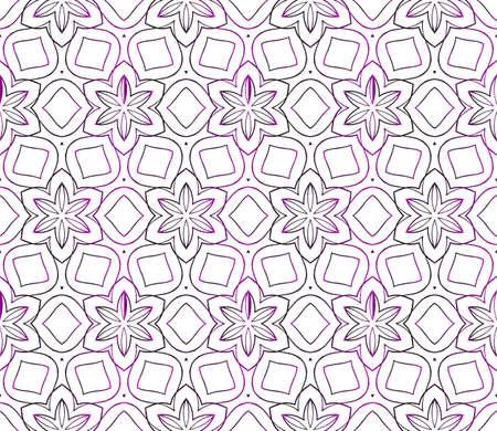floral pattern of geometric elements. seamless pattern. purple gradient color. vector illustration. design for printing, presentation, textile industry. Illustration