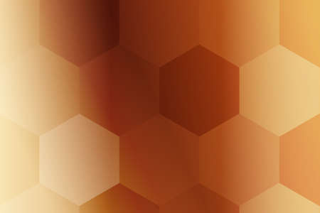 hexagons on a bronze background. geometric pattern with gradient. vector. ideas for your business presentations, printing, design.