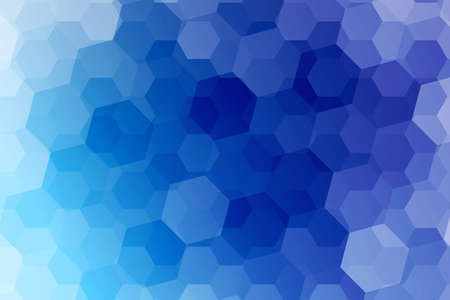 fantasy hexagons on a blue color background. vector. ideas for your business, printing, design presentations.