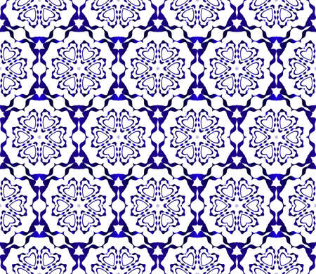 floral pattern of geometric elements. seamless pattern. blue gradient color. vector illustration. design for printing, presentation, textile industry.