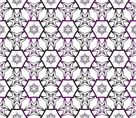 Christmas seamless pattern of snowflakes. purple gradient. vector illustration  イラスト・ベクター素材