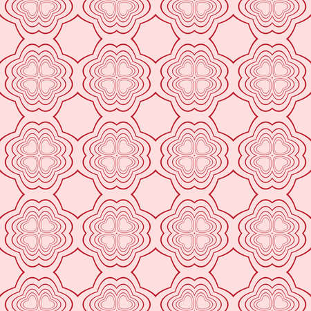 Seamless geometric pattern. vector illustration. pink color. for the design, printing, interior decoration, Wallpaper Illustration