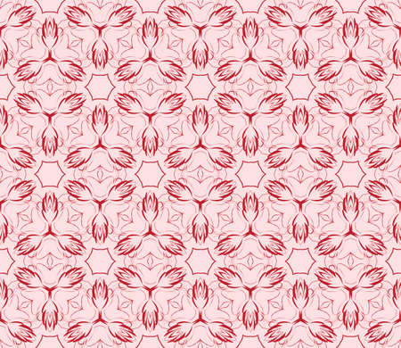Gentle seamless pattern of abstract flowers for greeting cards. vector illustration.
