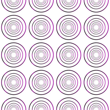 Seamless vector pattern of ovals and circles. purple gradient. vector illustration Illustration