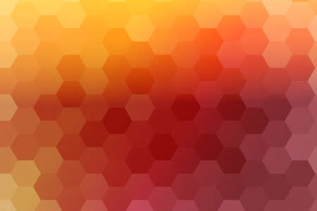 abstract sunrise color hexagon background. vector. geometric pattern with gradient. ideas for your business presentations, printing, design.