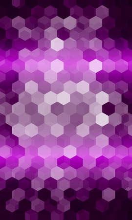 super disco music hexagon background. purple color. vector illustration. for design template banner, wallpaper, flyer Illustration